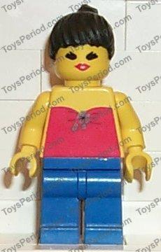 Baukästen & Konstruktion LEGO® Figur Minifig Red Halter Top #PAR050 Town Set 6345