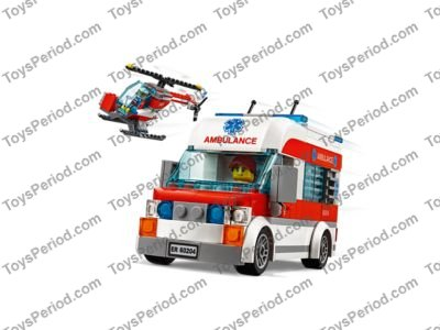 LEGO 60204 LEGO City Hospital Set Parts Inventory and