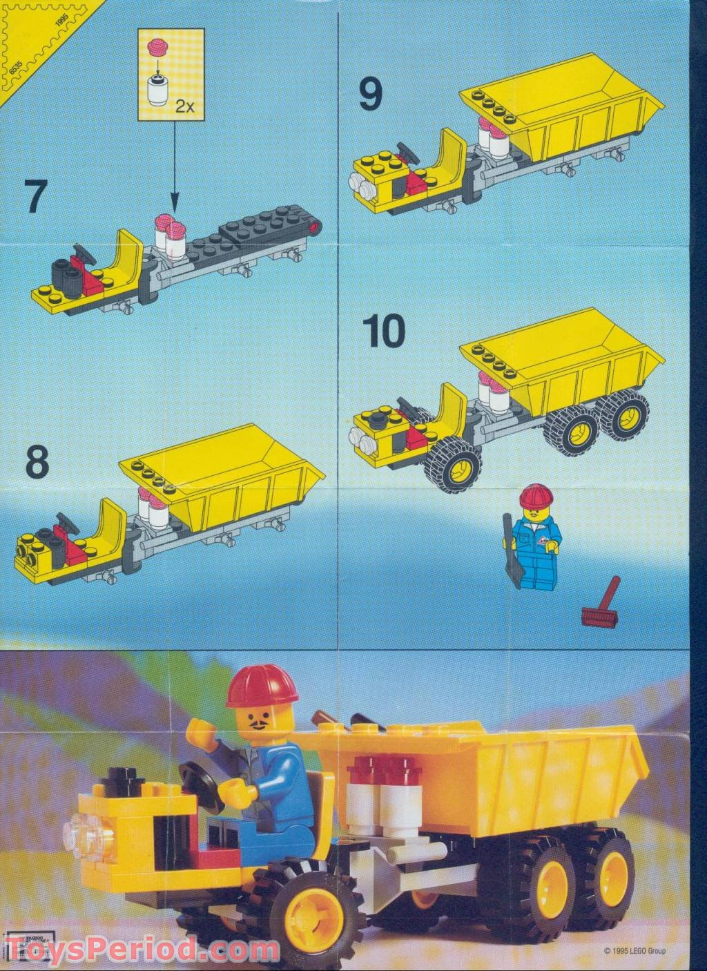 Lego 6535 Dumper Set Parts Inventory And Instructions