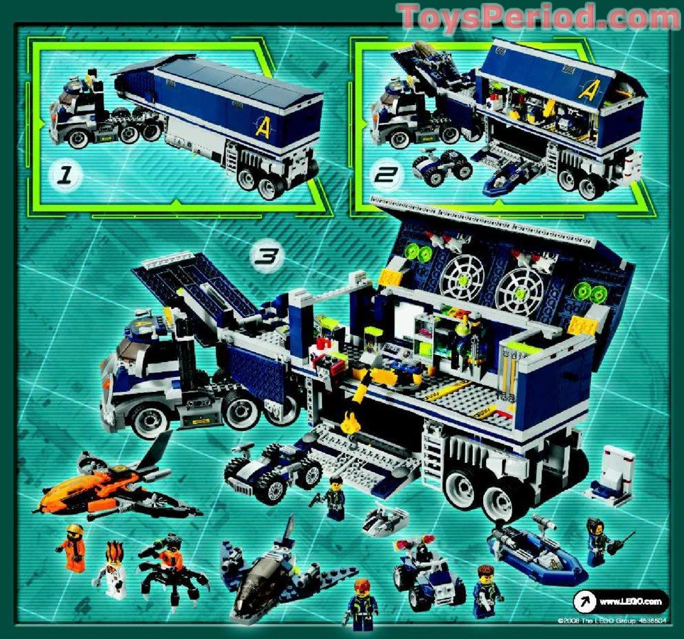 lego 8635 mission 6 mobile command center set parts  lego 8635 mission 6 mobile command center set parts