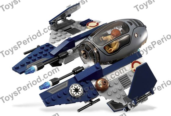 LEGO 7661 Jedi Starfighter with Hyperdrive Booster Ring Set Parts ...