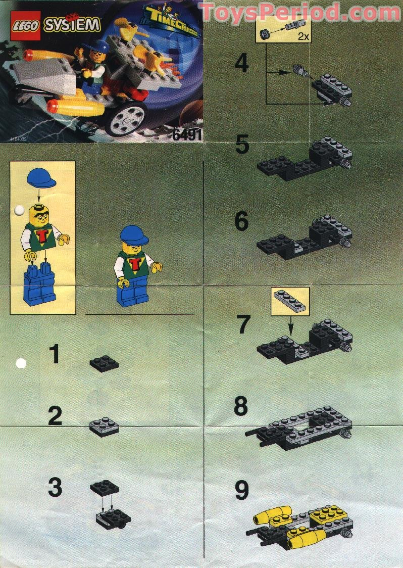 Lego 6491 Rocket Racer Set Parts Inventory And