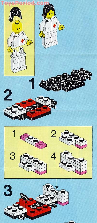 Lego 6523 Red Cross Set Parts Inventory And Instructions