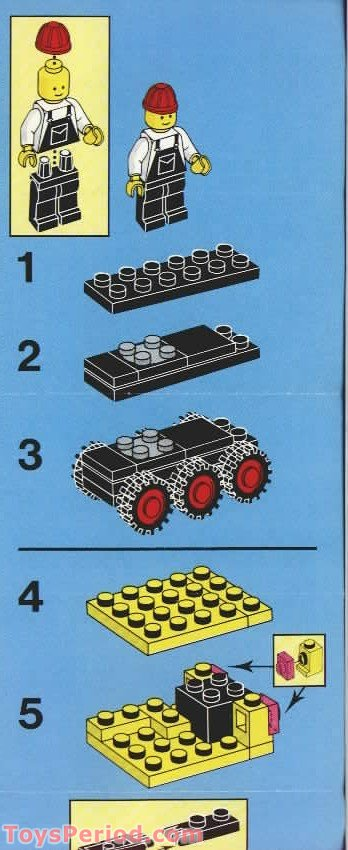 Lego 6631 Steam Shovel Set Parts Inventory And