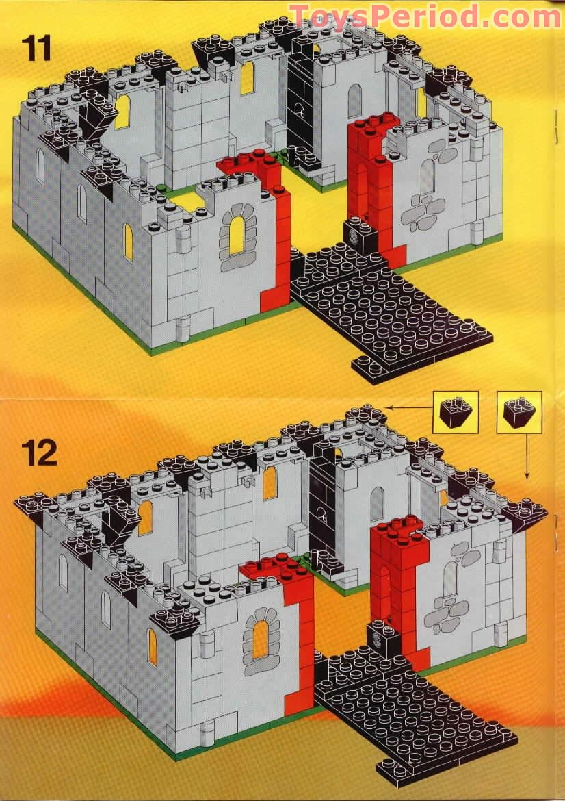 LEGO 6073 Knight's Castle Set Parts Inventory and