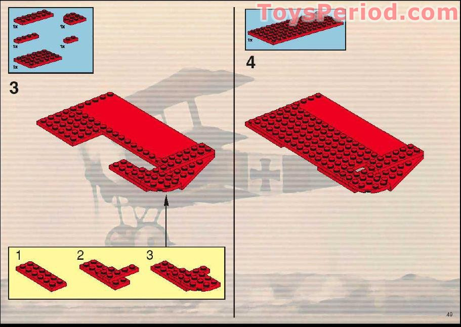 Missing Lego Brick 3665 OldDkGray x 5 Slope Brick 45 2 x 1 Inverted
