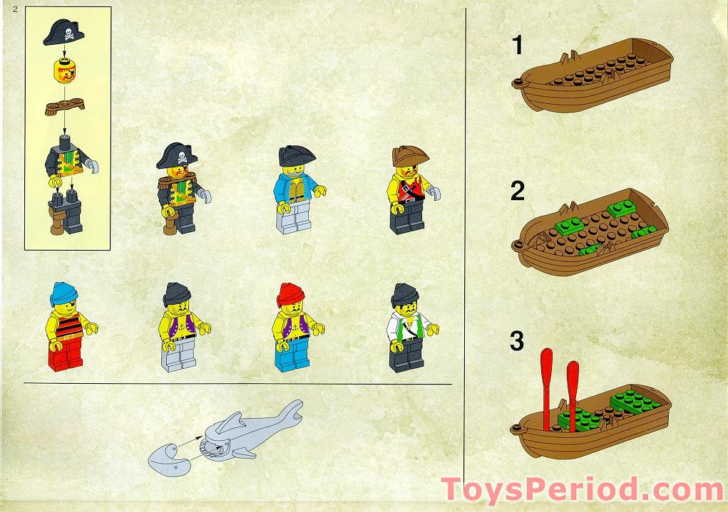 Lego 6289 Red Beard Runner Set Parts Inventory And Instructions
