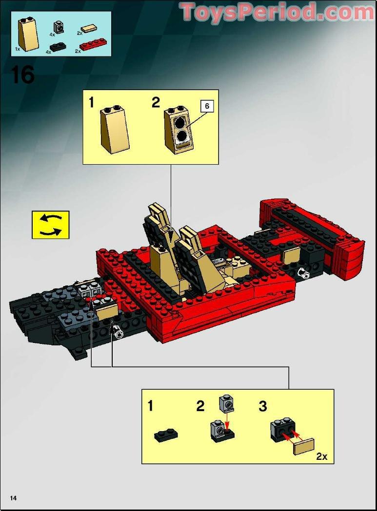 Lego 8671 Ferrari 430 Spider 1 17 Set Parts Inventory And