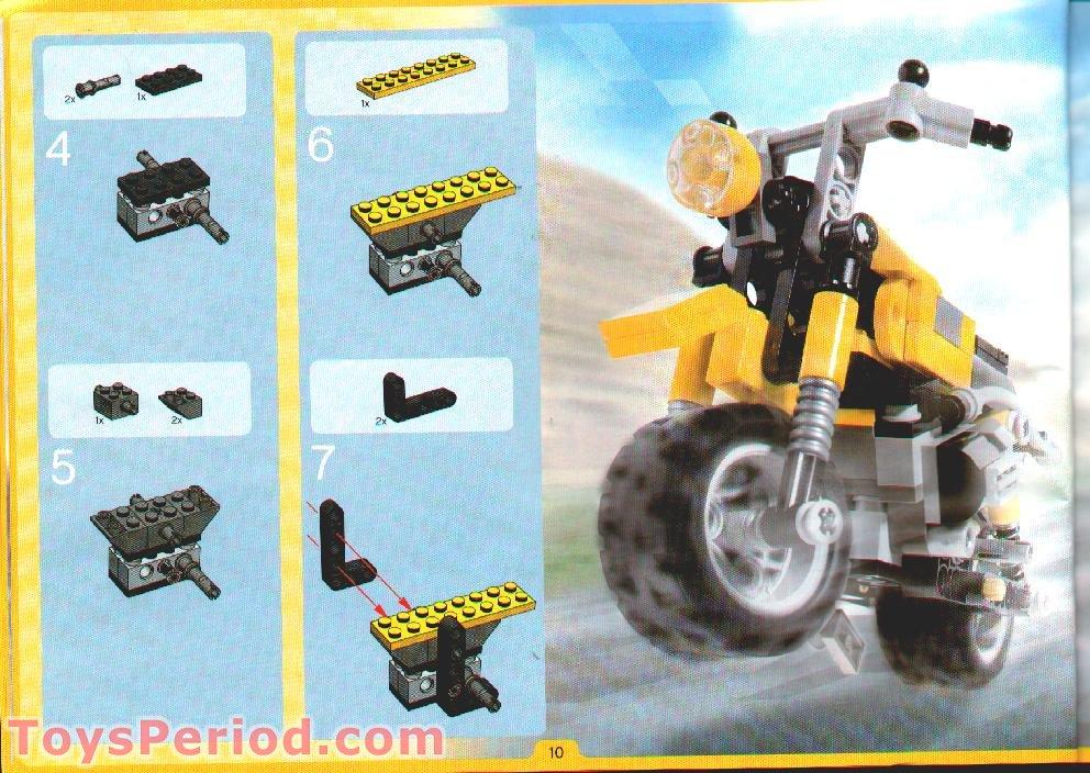 10 x Lego Technic 3705  Axle 4 Black