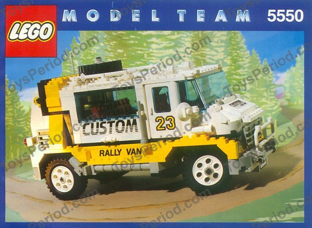 Lego 5550 Custom Rally Van Set Parts Inventory And Instructions