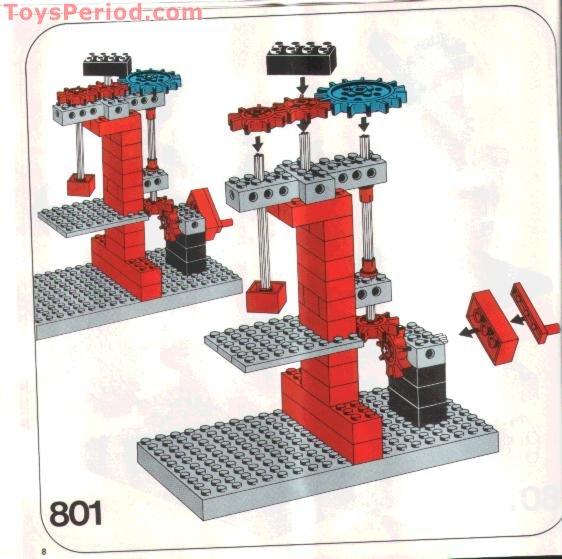 Porte Rouge LEGO VINTAGE Red Door Ref 801 /& 802 Set 377 331 374 336 371 310 ..