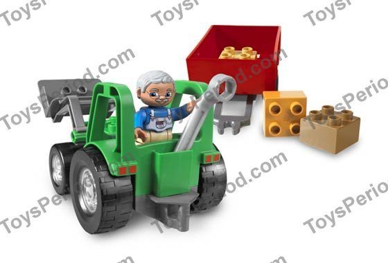 Lego Tractor Trailer : Lego tractor trailer set parts inventory and