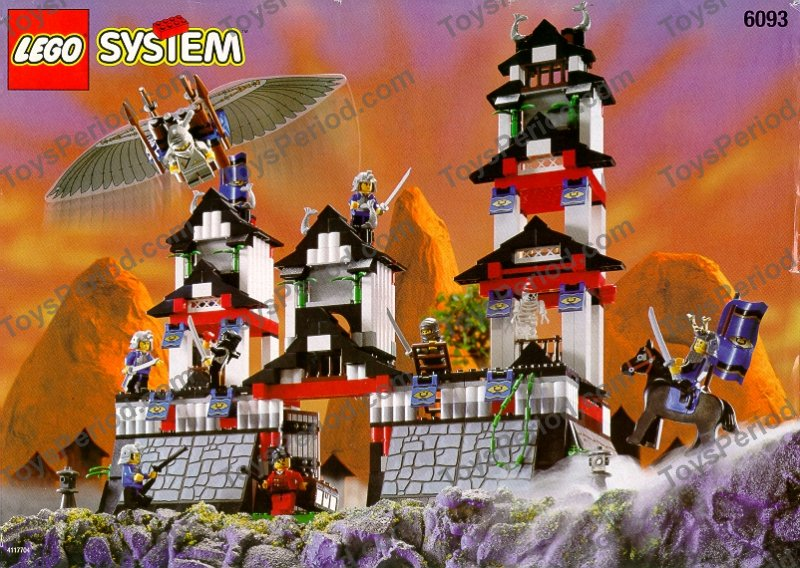 Castle Theme Sets Lego 6093 Flying Ninja Fortress Classic 90s