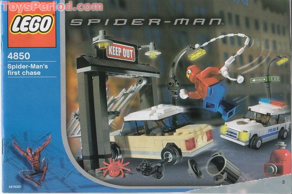 Lego 4850 Spider Mans First Chase Set Parts Inventory And