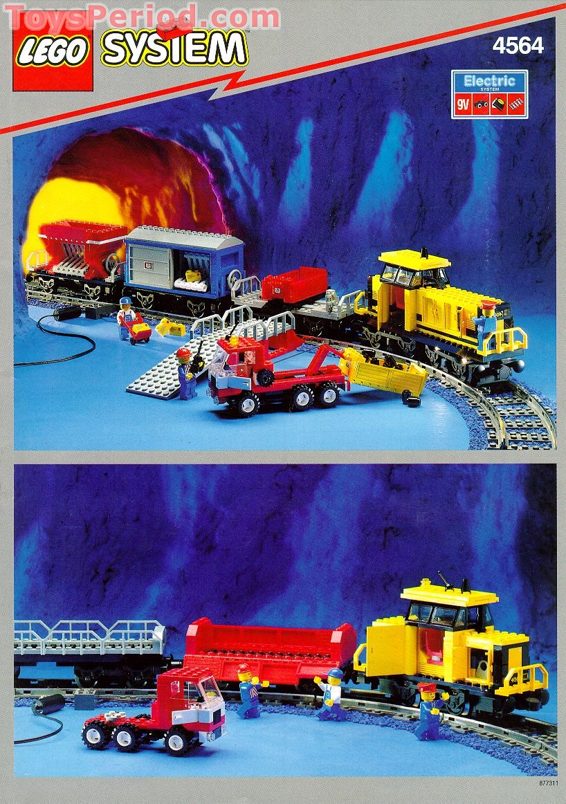 Lego 4564 Freight Rail Runner Set Parts Inventory And