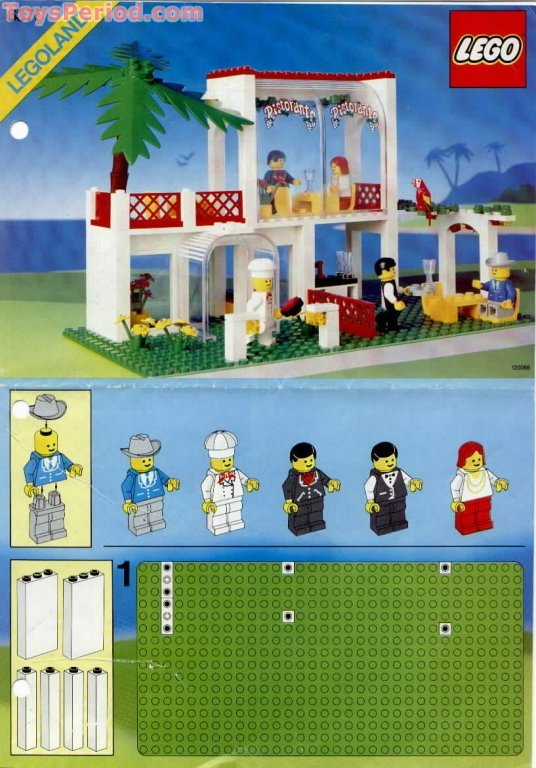 Lego 6376 Breezeway Cafe Caf 233 Set Parts Inventory And