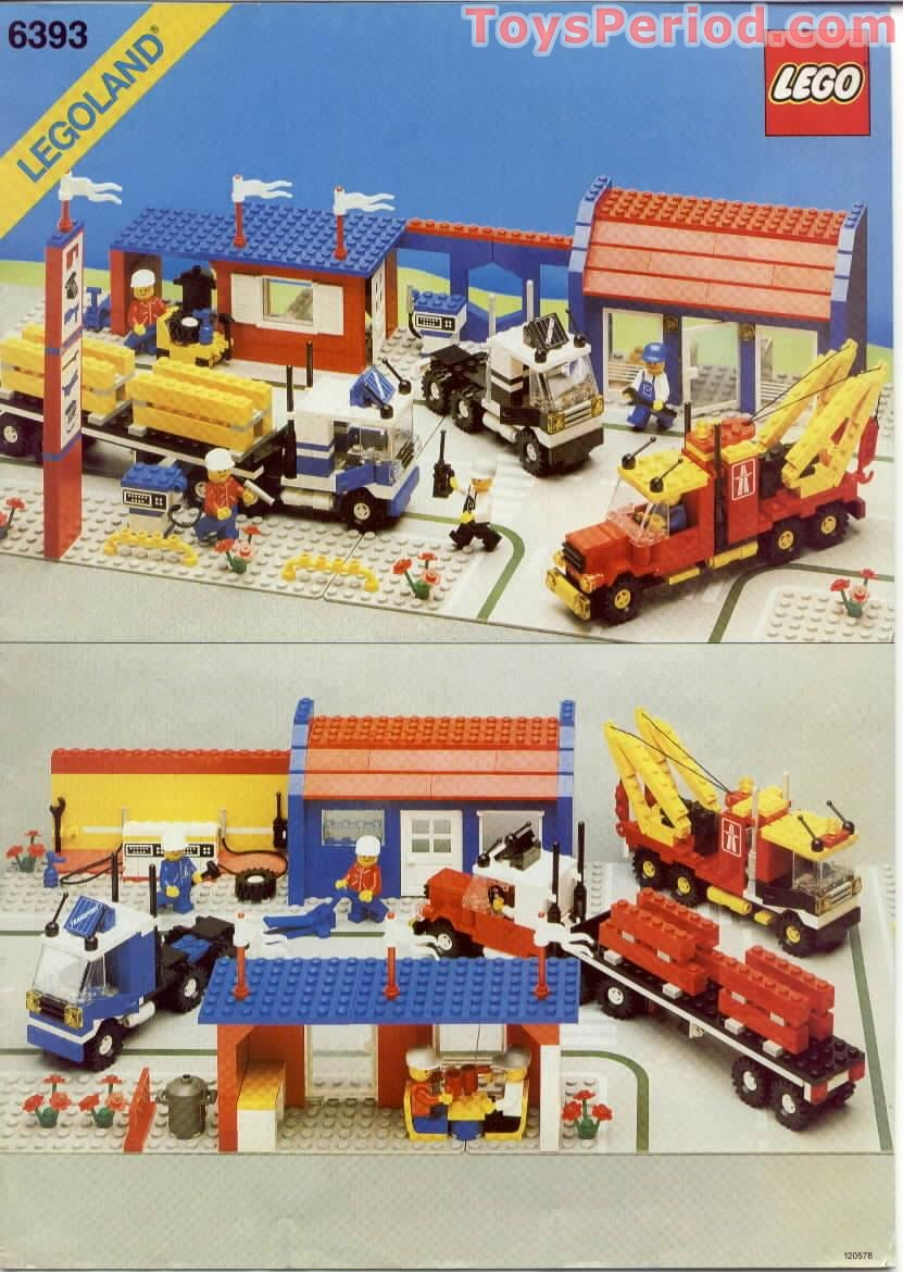 Lego 6393 Big Rig Truck Stop Set Parts Inventory And