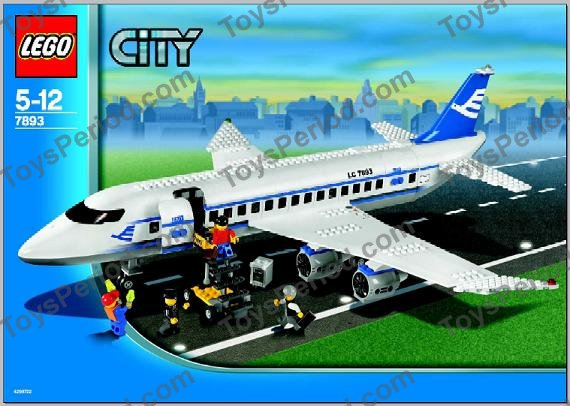 LEGO 7893-1 Passenger Plane Set Parts Inventory and ...