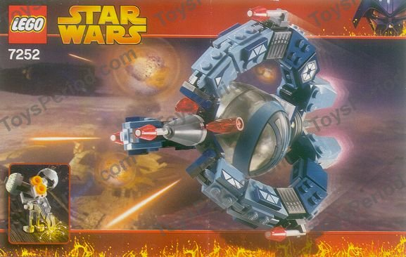 LEGO Black 2x2 Star Wars Droid Tri-Fighter Slope