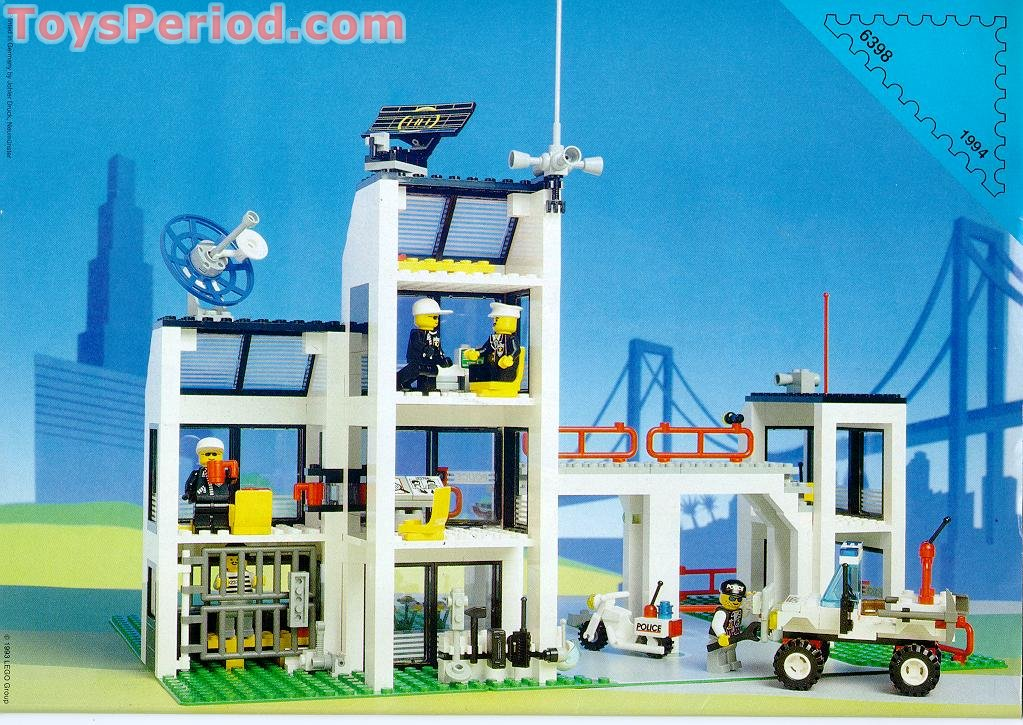 Lego 6398 Central Precinct Hq Set Parts Inventory And Instructions