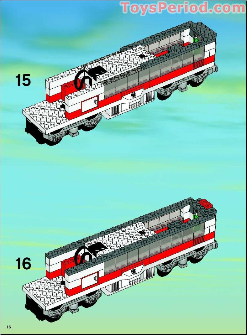 Lego 7897 Passenger Train Set Parts Inventory And Instructions