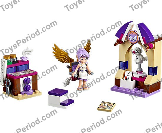 Hair Long Bangs w// Elf Ears Lavender Minifig White Tips in Back LEGO