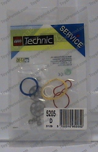 Lego 5205 Pulleys And Rubber Belts Set Parts Inventory And