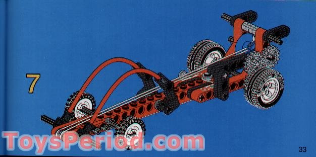 LEGO 2129 Blast-Off Dragster Set Parts Inventory and