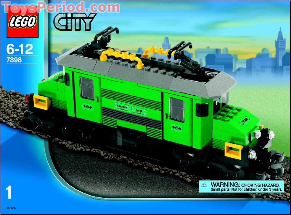 Lego 7898 cargo train deluxe set parts inventory and