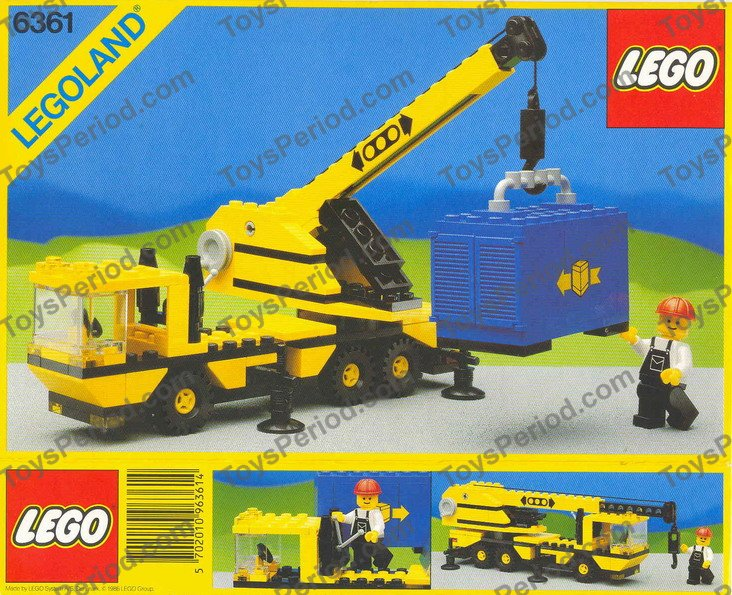Lego 6361 Mobile Crane Set Parts Inventory And Instructions Lego