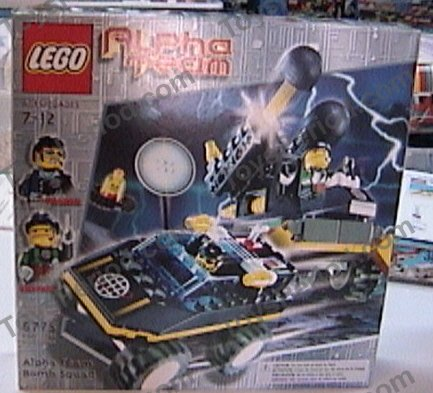 LEGO 6775 Alpha Team Bomb Squad Set Parts Inventory and Instructions ...