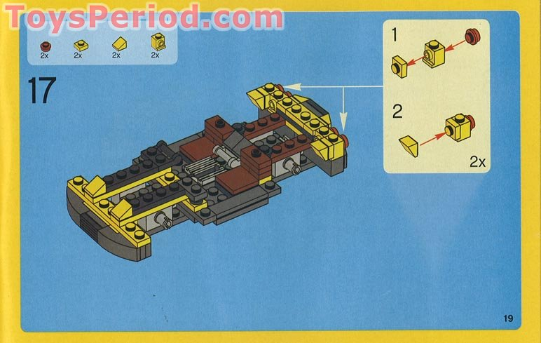 Lego 4939 Cool Cars Set Parts Inventory And Instructions Lego