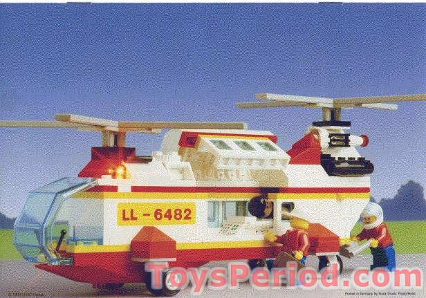 Lego 6482 Rescue Helicopter Set Parts Inventory And