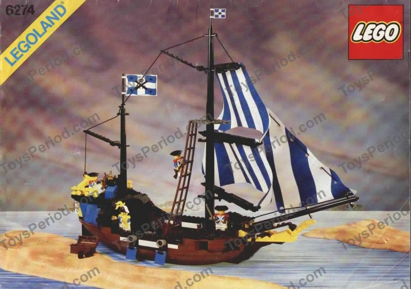 Lego 6274 Caribbean Clipper Set Parts Inventory And Instructions
