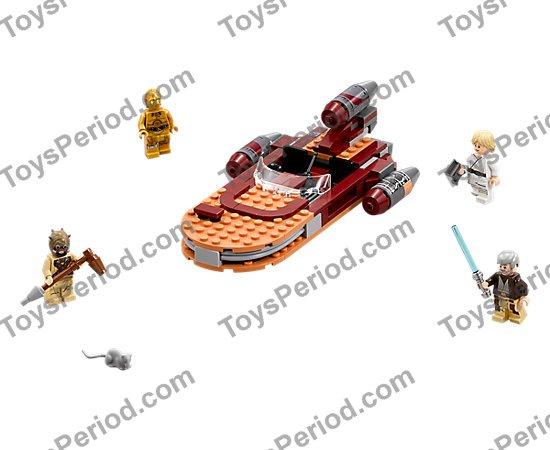 NEW LEGO Star Wars Minifig Luke Skywalker /& binoculars Luke/'s Landspeeder 75173