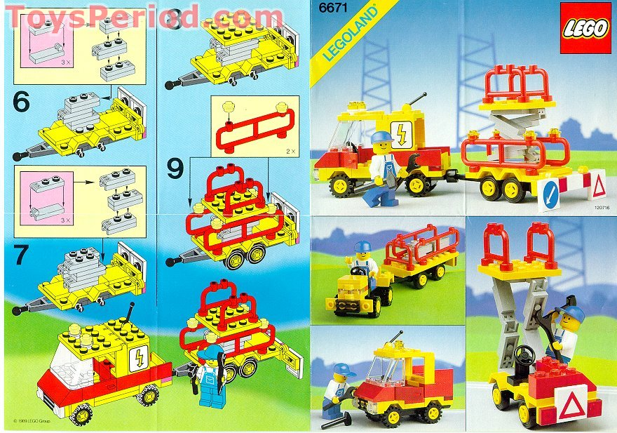 Lego 6671 Utility Repair Lift Set Parts Inventory And