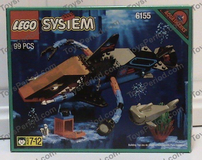 Lego 6155 Deep Sea Predator Aquashark Barracuda Set Parts