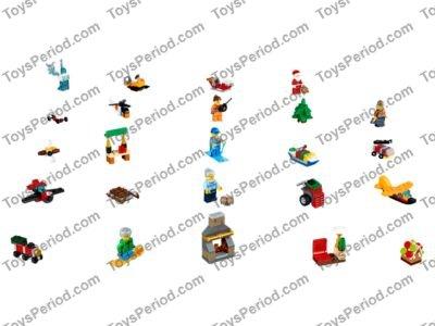 Lego 60155 Lego City Advent Calendar Set Parts Inventory And