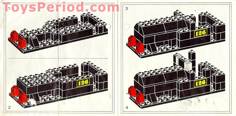 Lego 126 Push Along Steam Locomotive Set Parts Inventory And