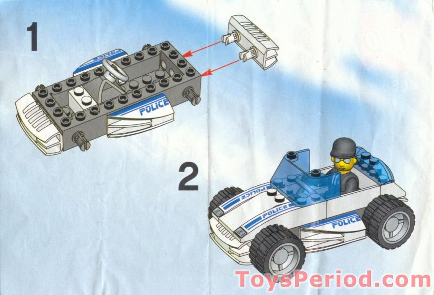 LEGO 4666 Speedy Police Car Set Parts Inventory and ...