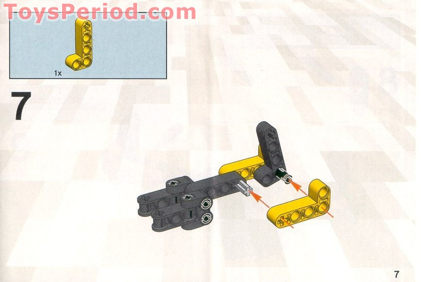 Lego 8441 Forklift Truck Set Parts Inventory And Instructions Lego