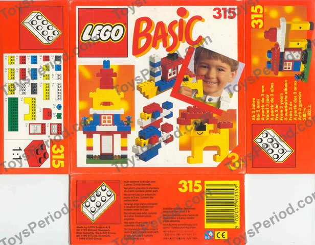 lego 315 1 basic building set 3 plus set parts inventory and instructions lego reference guide. Black Bedroom Furniture Sets. Home Design Ideas