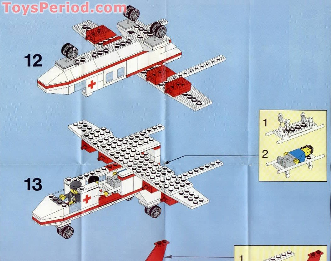 Lego 6356 Med Star Rescue Plane Set Parts Inventory And