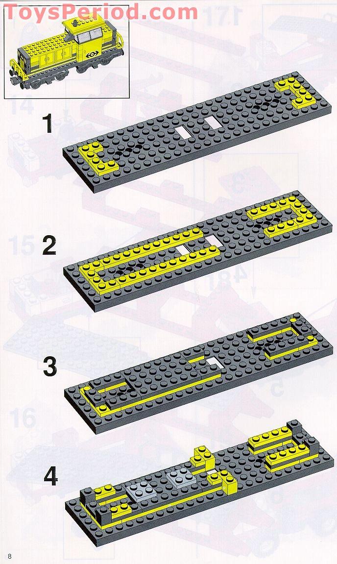 Lego light grey dock oldgray train platform ref 2642//set 4554 2150 6541 6542...