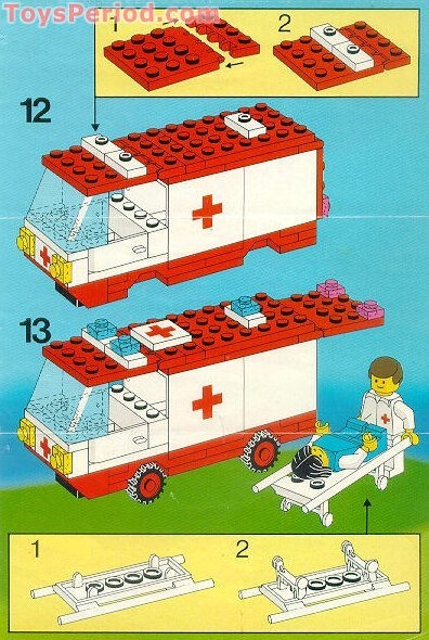 Lego 6688 ambulance set parts inventory and instructions for Lego classic house instructions