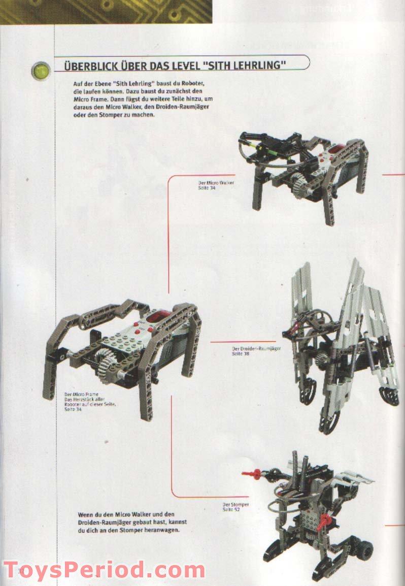LEGO 9754 Dark Side Developer Kit Set Parts Inventory and