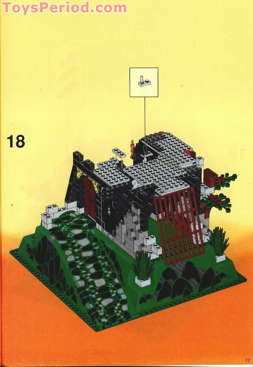 LEGO 6082 Fire Breathing Fortress Set Parts Inventory And Instructions