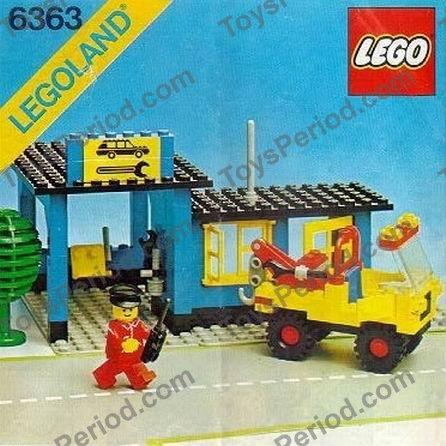 Lego 6363 Auto Repair Shop Set Parts Inventory And Instructions