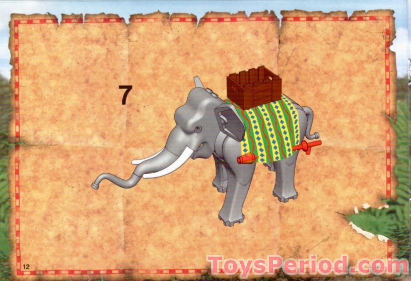 LEGO 7414 Elephant Caravan Set Parts Inventory and Instructions ...