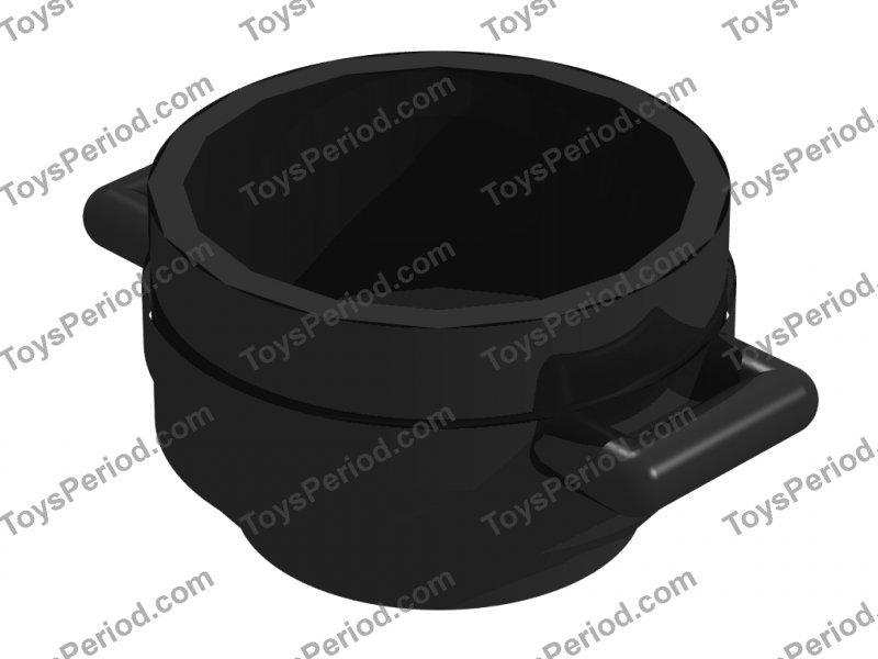 *NEW* 7 Pieces Lego Minifig Utensil BLACK POT CAULDRON 3x3x1.75 with HANDLES